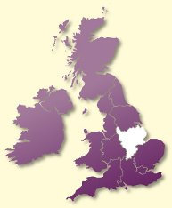 Protective Behaviours Trainers UK map - East Midlands
