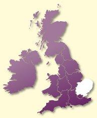 Protective Behaviours Trainers UK map - East
