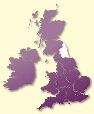 Protective Behaviours Trainers UK map - North East