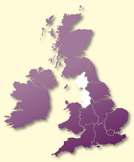 Protective Behaviours Trainers UK map - North West