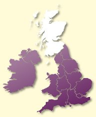 Protective Behaviours Trainers UK map - Scotland