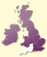 Protective Behaviours Trainers UK map - South West