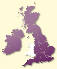 Protective Behaviours Trainers UK map - Wales