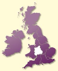 Protective Behaviours Trainers UK map - West Midlands